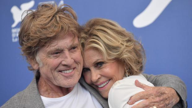 Robert Redford y Jane Fonda, en el Festival de Cine de Venecia
