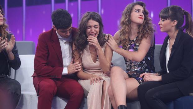 Ana Guerra no pudo contener las lágrimas en la Gala 11 tras conocer que seguiría una semana más en OT 2017