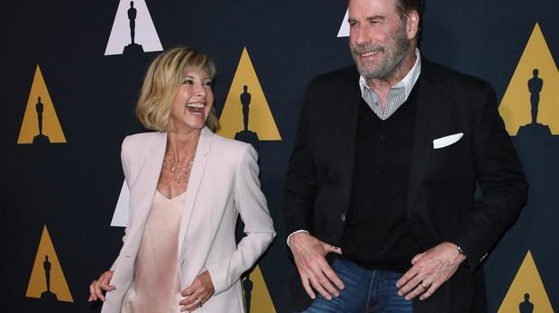 Olivia Newton-John y John Travolta celebran el aniversario de «Grease»