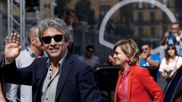 Ricardo Darín, este viernes, tras su llegada al Hotel María Cristina de San Sebastián