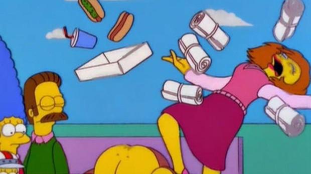 Maude Flanders, en sus últimos momentos en «Los Simpson»