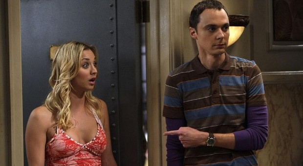 Penny y Sheldon en «The Big Bang Theory»
