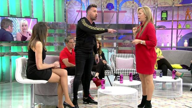 Belén Esteban y Rafa Mora discuten en «Sálvame»