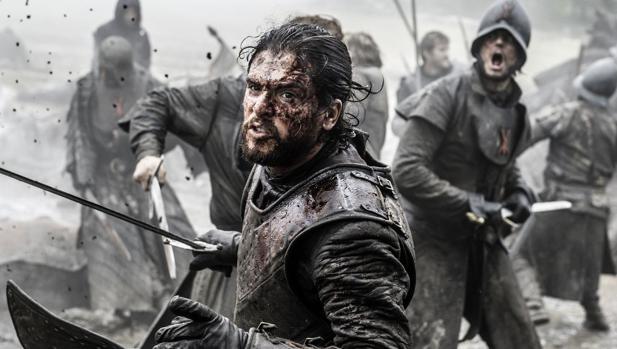 Jon Nieve, en la Batalla de los Bastardos de «Juego de Tronos»