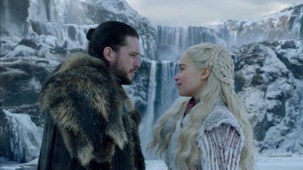 Jon Nieve y Daenerys, en «Juego de Tronos»
