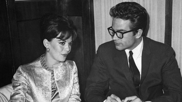 Natalie Wood junto a Warren Beatty