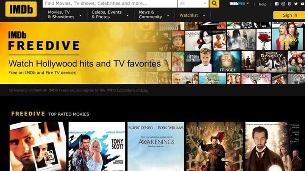 IMDb Freedive, el antiguo formato de IMDb TV