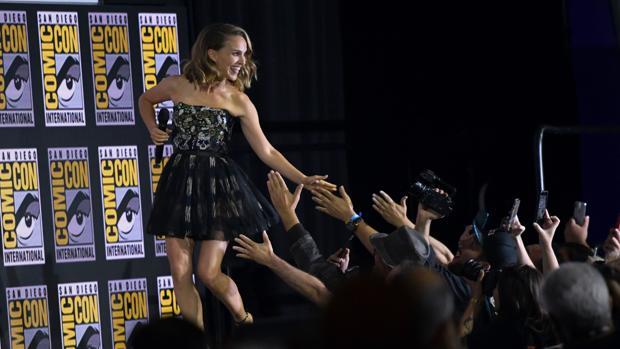 Natalie Portman, durante su intervención en la Comic-Con