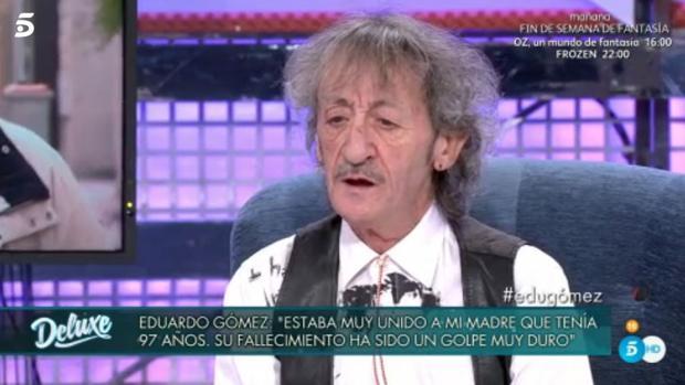 Eduardo Gómez, durante la entrevista en «Sábado Deluxe»