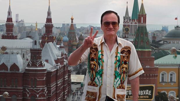 El director estadounidense Quentin Tarantino posa durante la presentación de su última película en Moscú, Rusia