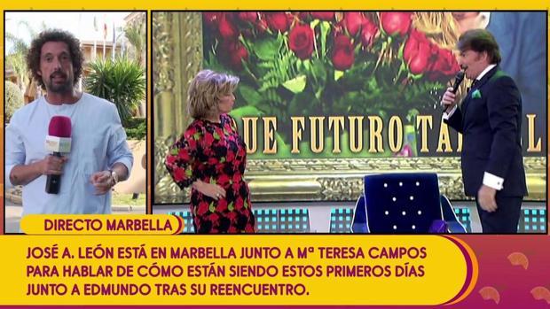 El intento de conexión de «Sálvame» con María Teresa Campos en Marbella