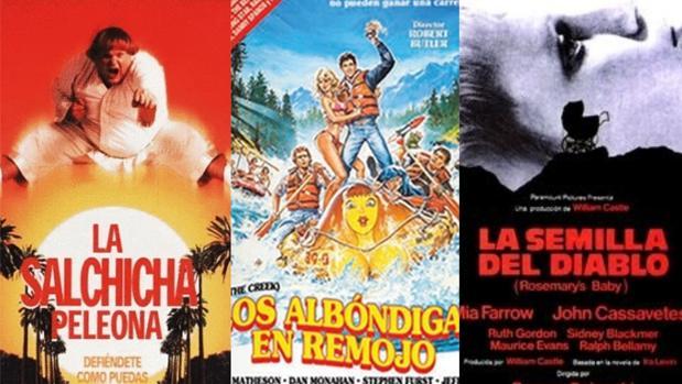 Carteles de «La salchicha peleona», «Los albóndigas en remojo»y «La semilla del diablo»