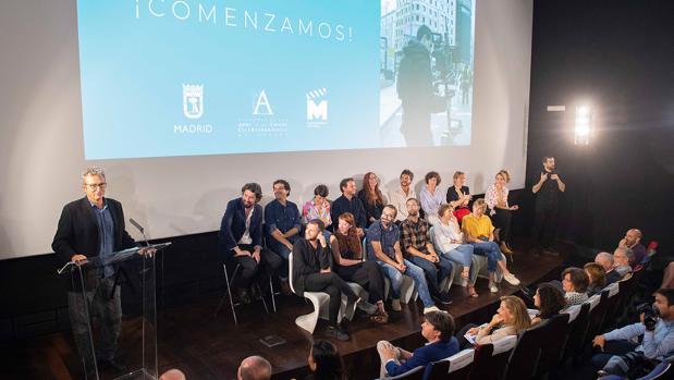 Mariano Barroso, presidente de la Academia de Cine, durante la presentación de Residencias