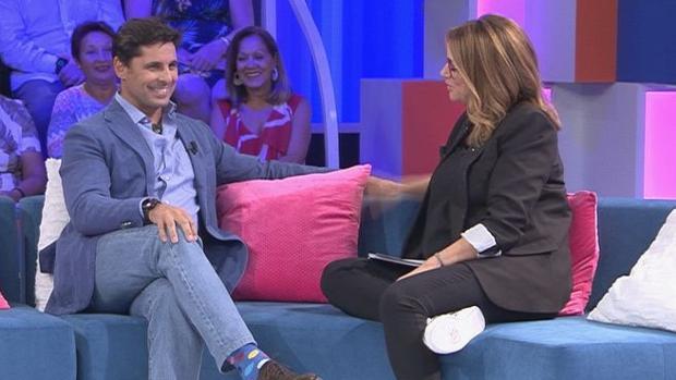 Fran Rivera en la última entrega de «Aquellos maravillosos años», en Telemadrid