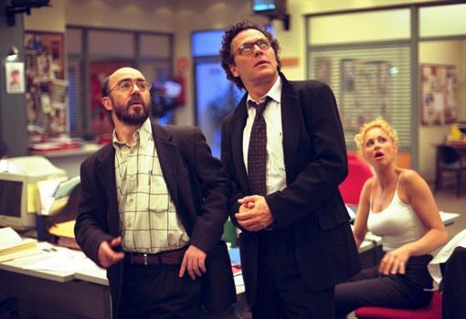 Álex Angulo, José Coronado and Esther Arroyo, in «Periodistas»