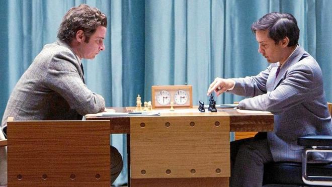 Liev Schreiber (Spassky) y Tobey Maguire (Fischer) en 'El caso Fischer'