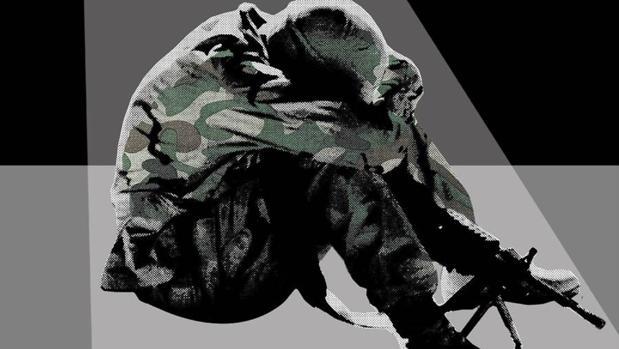 El trastorno por estrés postraumático suele aparecer en muchos soldados durante y después de una guerra