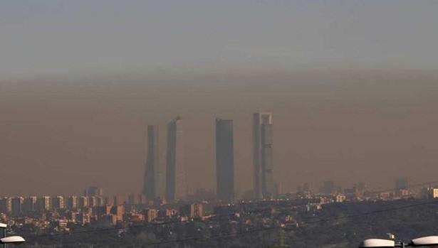 La clásica 'boina' de contaminación en Madrid