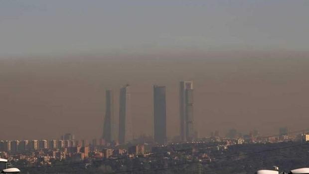 Aire contaminado en Madrid