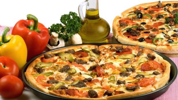 Los vegetales aportan sabor y menos calorías a la pizza
