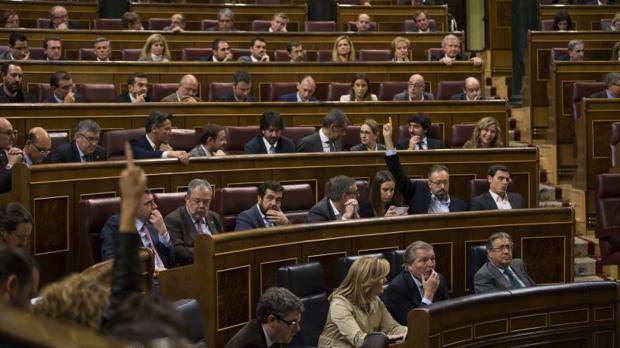 Pleno del Congreso de los Diputados en el que se votó la paralización de la Lomce