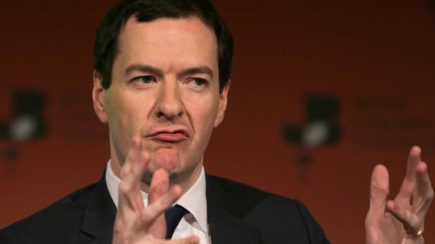 Osborne, durante una conferencia en la Cámara de Comercio