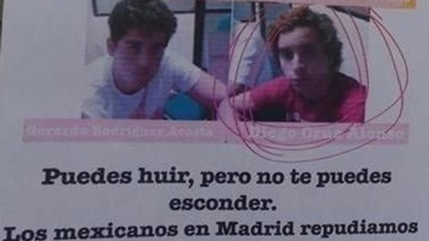 Varios carteles en el centro de la capital alertaban de la presencia del «Porky» en Madrid