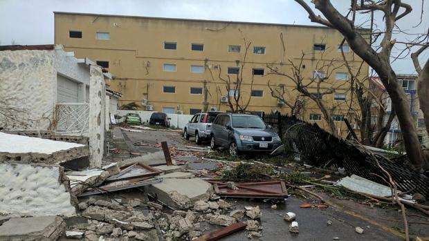Daños del huracán Irma a su paso por San Martín