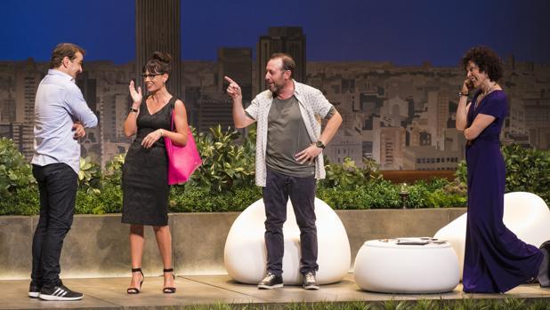 Luis Merlo, Itziar Atienza, Antonio Molero y Maru Valdivieso, protagonistas de la obra de teatro «El test»