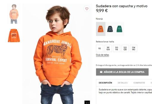 35dc6d93e1 H&M retira de su web la imagen de un niño negro que lleva una sudadera con  el lema: «El mono más guay de la jungla»