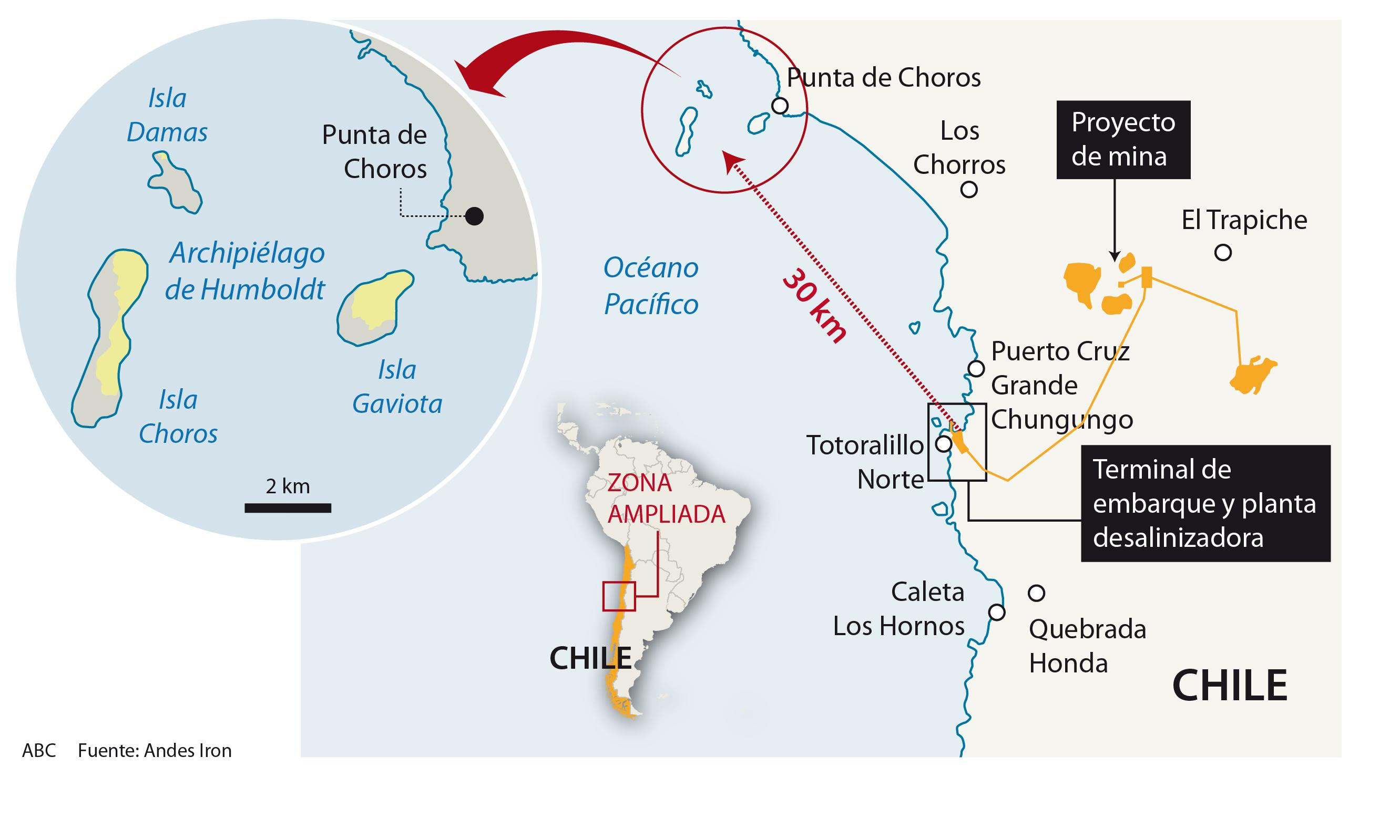 Un proyecto minero en Chile amenaza la reserva de Humboldt, el último  paraíso