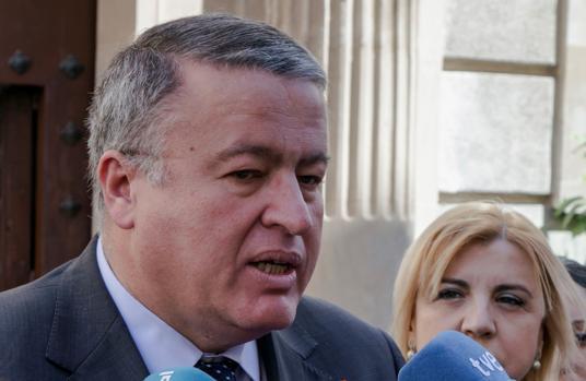 El delegado de Gobierno de la Región de Murcia, Francisco Bernabé