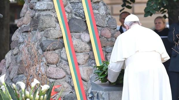 El Papa Francisco, en el museo de la ocupación soviética y de la lucha por la libertad de Vilnius, capital lituana
