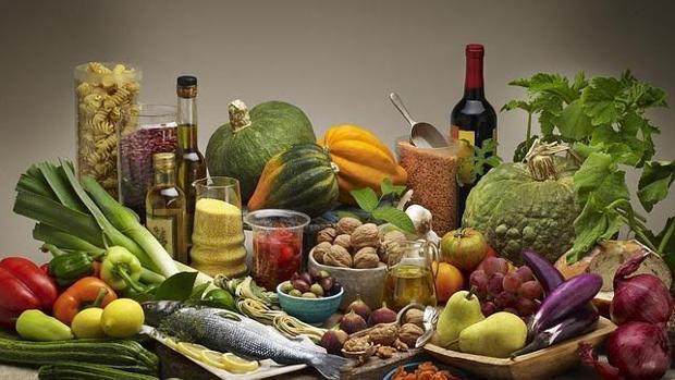 Imagen de archivo de alimentos de dieta mediterránea