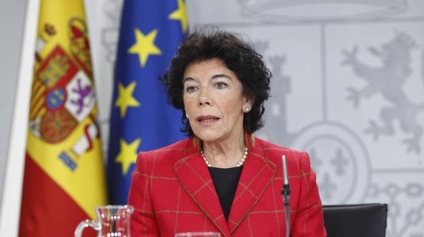 a ministra de Educación y Formación Profesional y portavoz del gobierno, Isabel Celáa