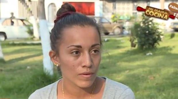 Sandra Rojas Gordillo, madre de la pequeña Vania, en una entrevista