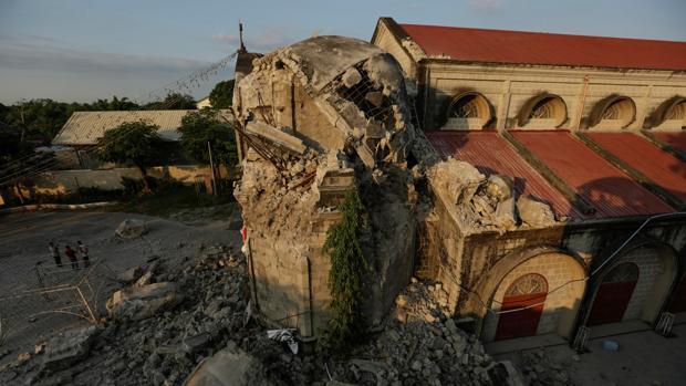 Imagen de los destrozos causados por el terremoto