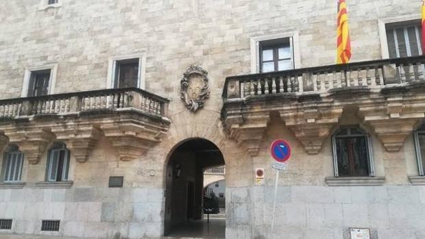 Entrada de los juzgados de Palma