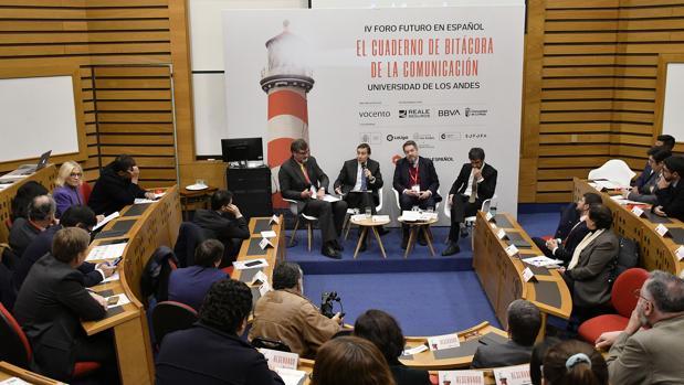 Juan Ignacio Brito, Carlos Schaerer, Bieito Rubido y Fernando Belzunce en el IV Foro Futuro en Español