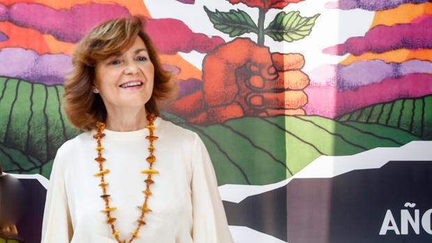 Carmen Calvo, el pasado domingo