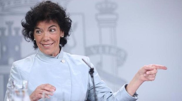La ministra de Educación y Formación Profesional en funciones, Isabel Celaá
