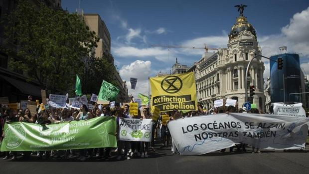 Imagen de archivo de una manifestación en Madrid por el clima