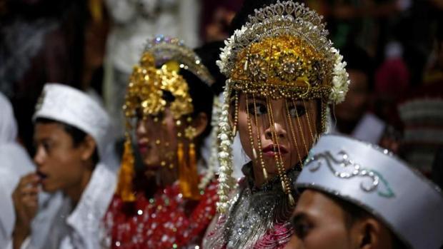 Imagen de archivo de una boda en indonesia