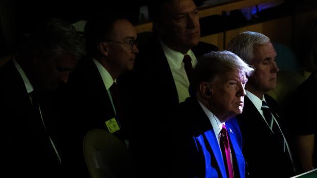 El presidente estadounidense Donald J. Trump escucha una de las intervenciones de la Semana del Clima organizada por la ONU