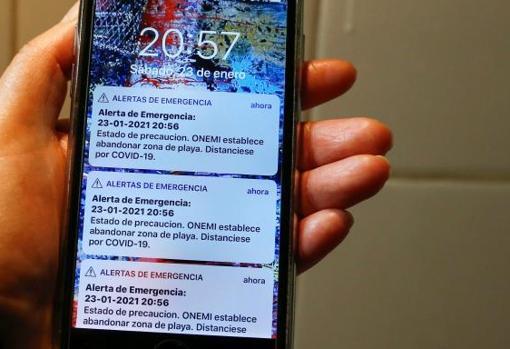Alertas recibidas por los chilenos