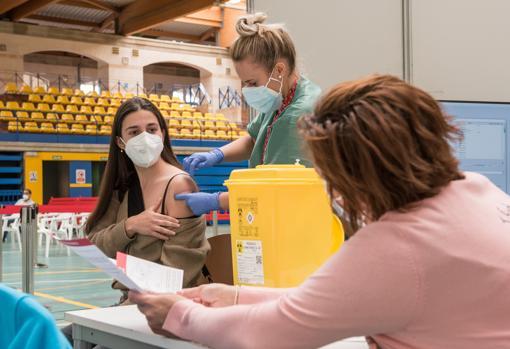 La vacunación masiva ayer en Palma de Mallorca