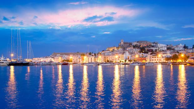 Vista del pueblo de Ibiza