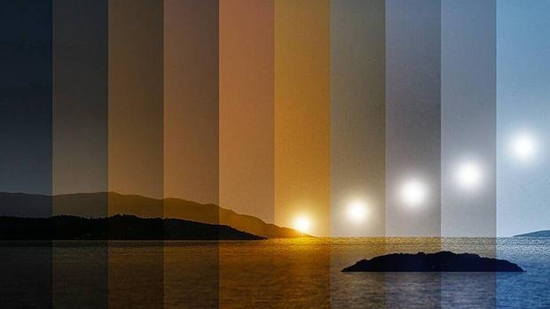La evolución de la luz desde primera hora de la mañana hasta el mediodía
