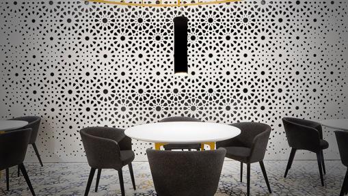 La sala de Noor, restaurante de cocina creativa que explora la cultura andalusí