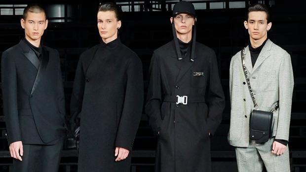Modelos del desfile pre fall de Dior Homme 2019 durante el backstage
